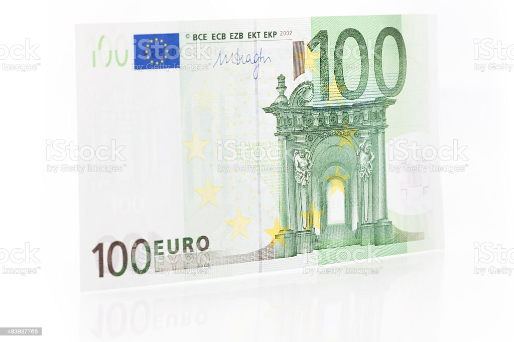 One Hundred Euro Note - Front stock photo