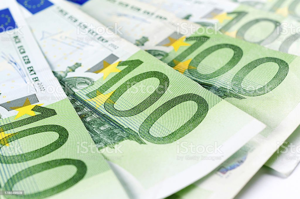One hundred euro royalty-free stock photo