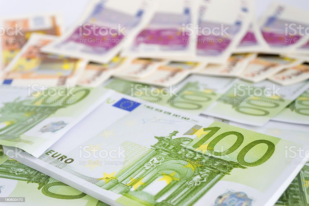 one hundred euros royalty-free stock photo