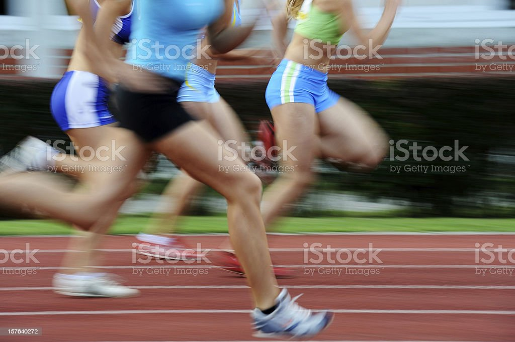 One hundred meters sprint stock photo