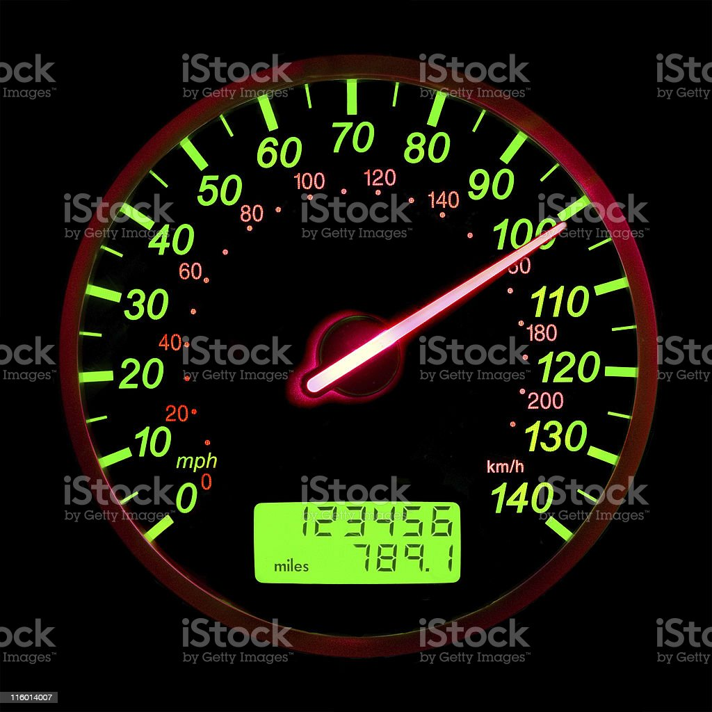 One Hundred Miles Per Hour royalty-free stock photo