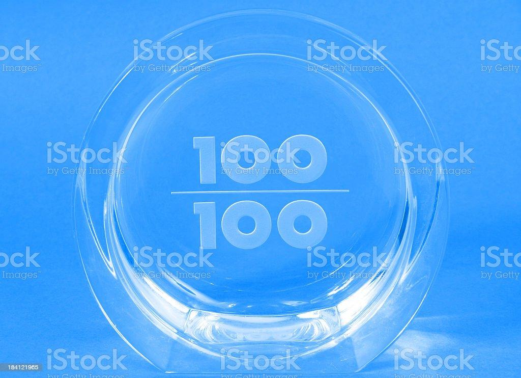 One hundred per cent award stock photo