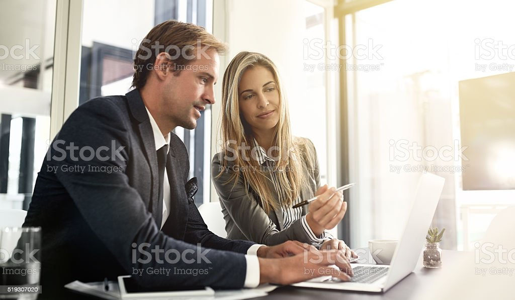 One hundred percent focused on their work stock photo