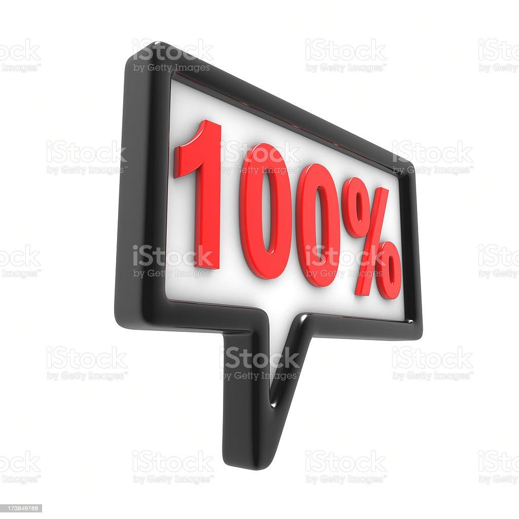 One Hundred Percent royalty-free stock photo
