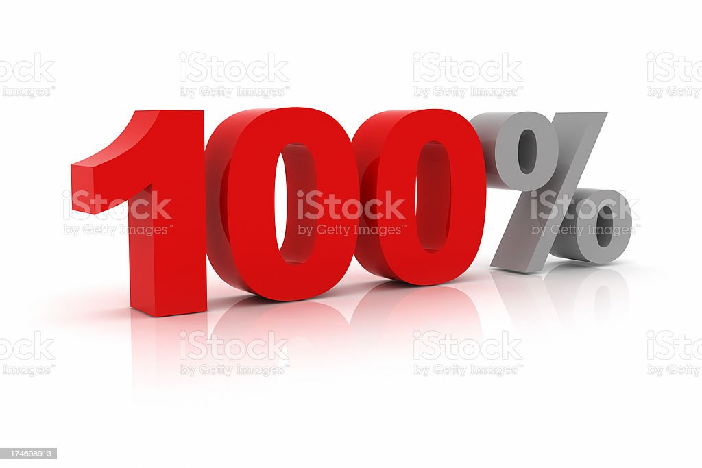 One Hundred Percent royalty-free stock photo