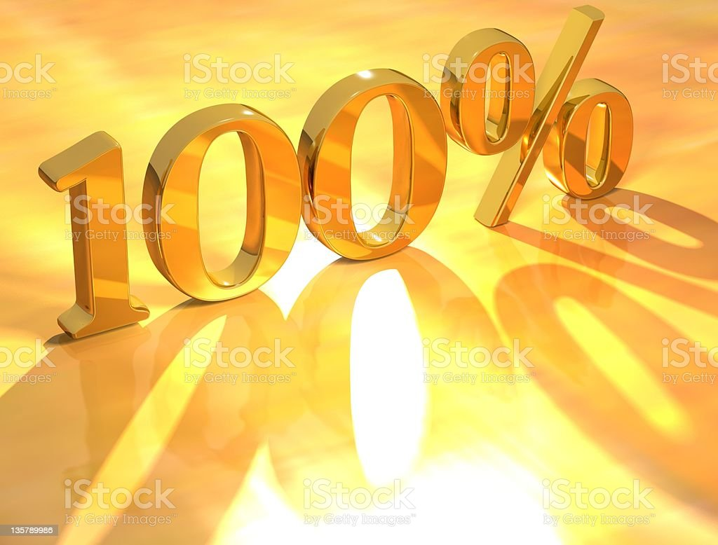 One hundred percent written in God royalty-free stock photo