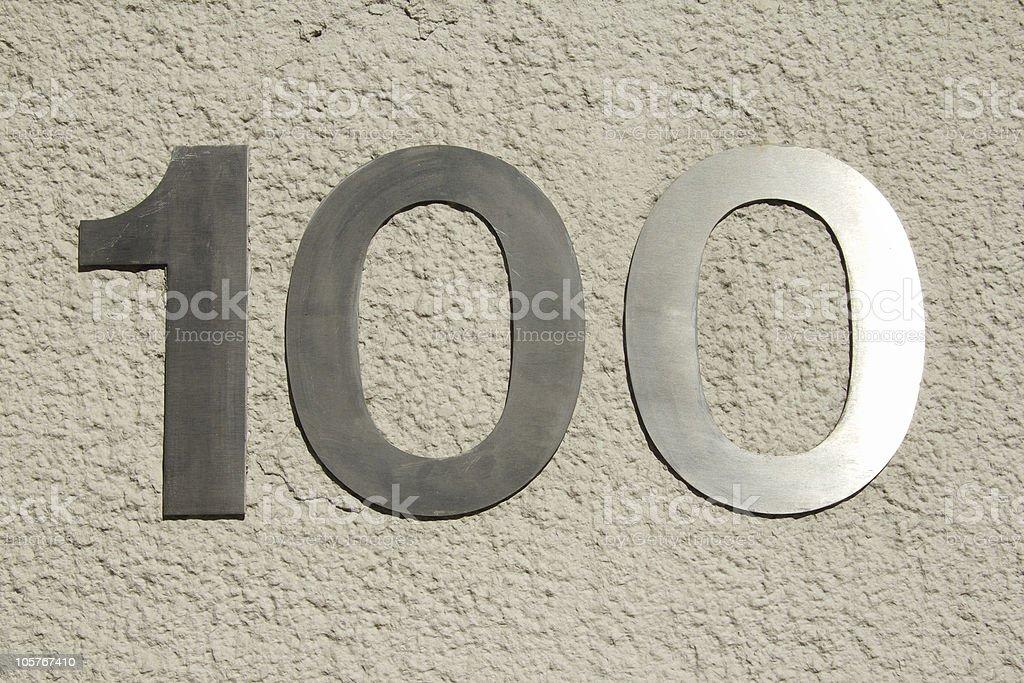 One hundred royalty-free stock photo