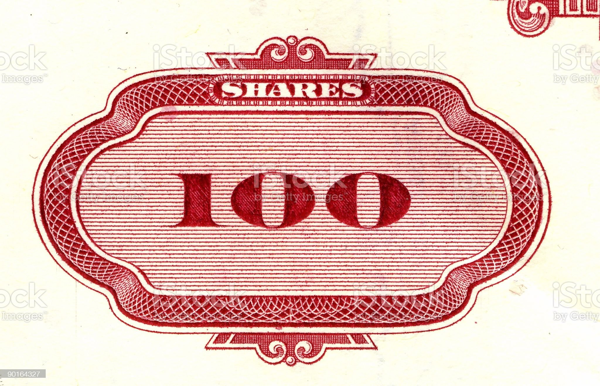 One Hundred Shares royalty-free stock photo