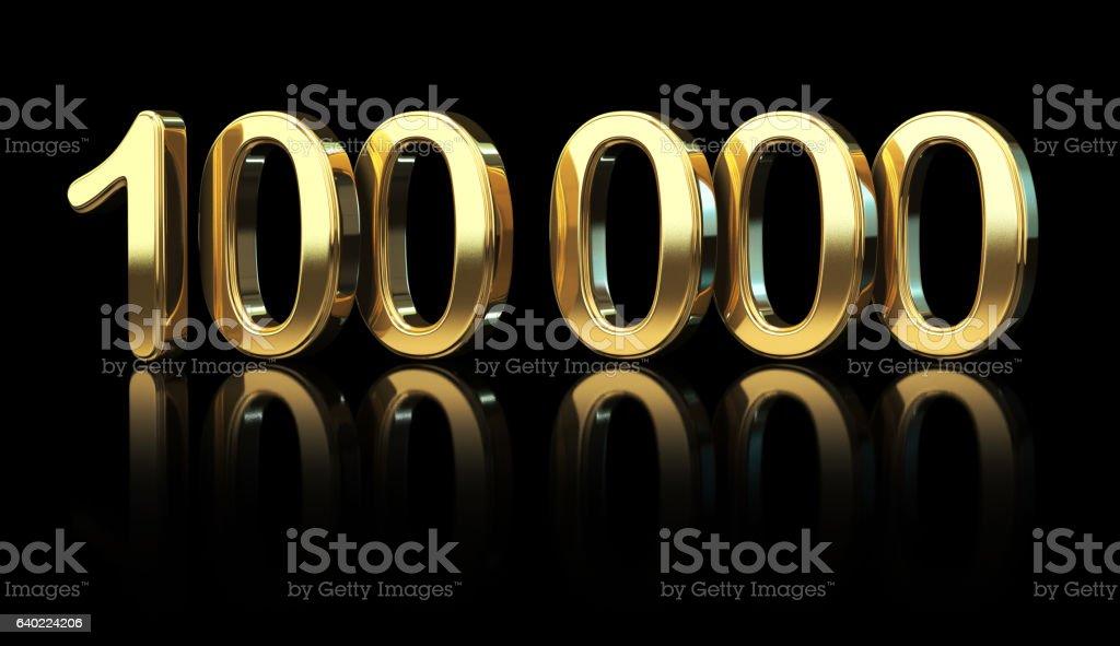 One Hundred Thousand stock photo