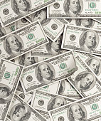One Hundred US Dollar Bills Background