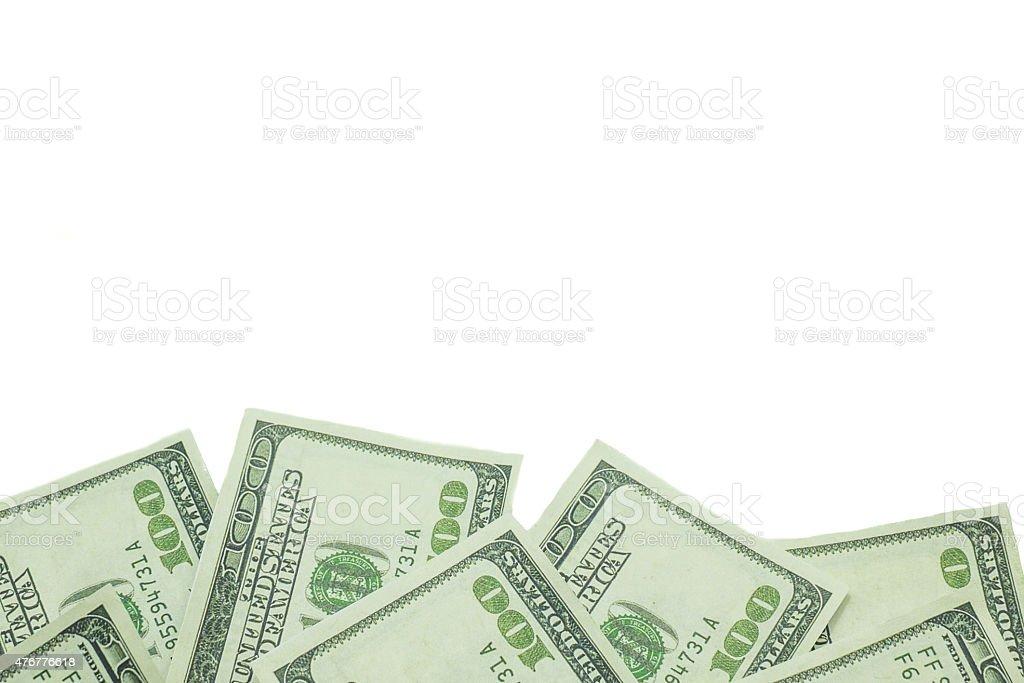 One hundred US dollar isolated on white background stock photo