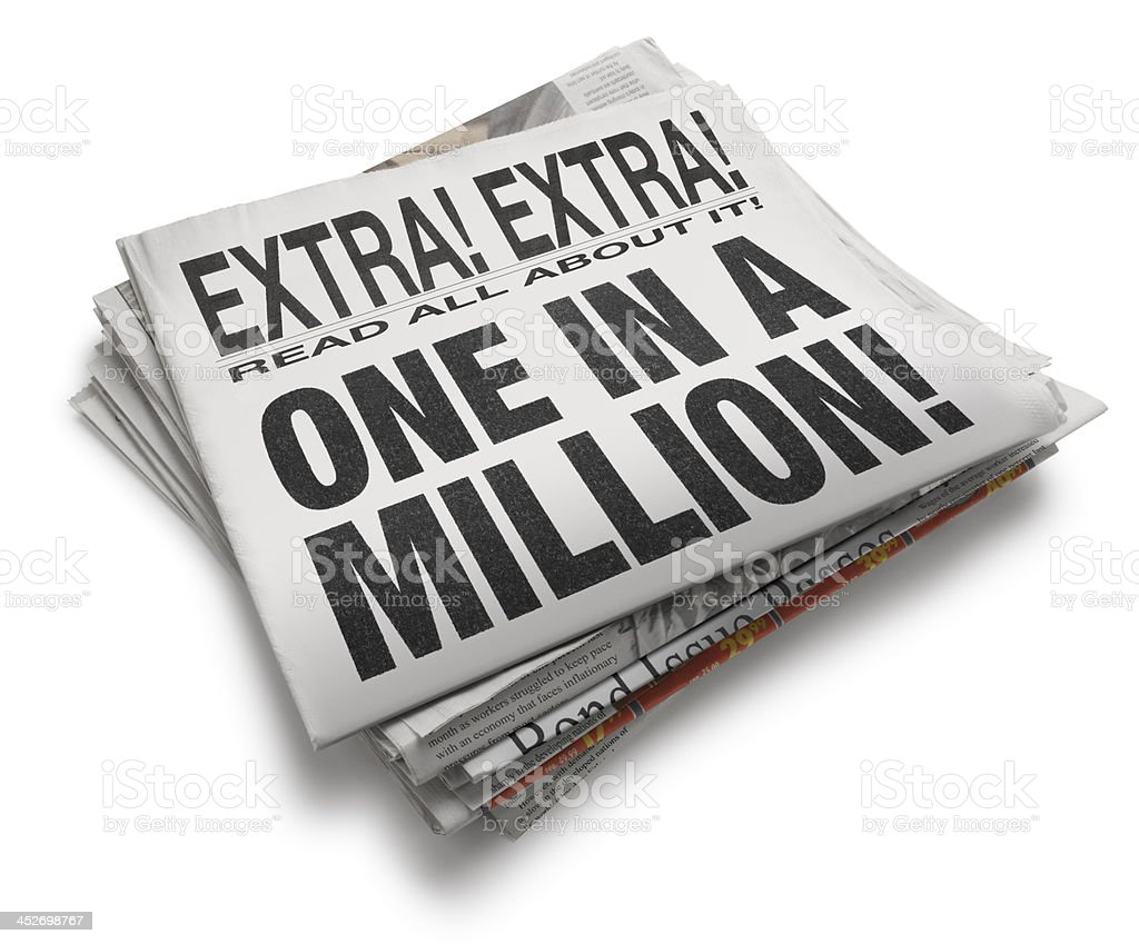 One in a Million royalty-free stock photo