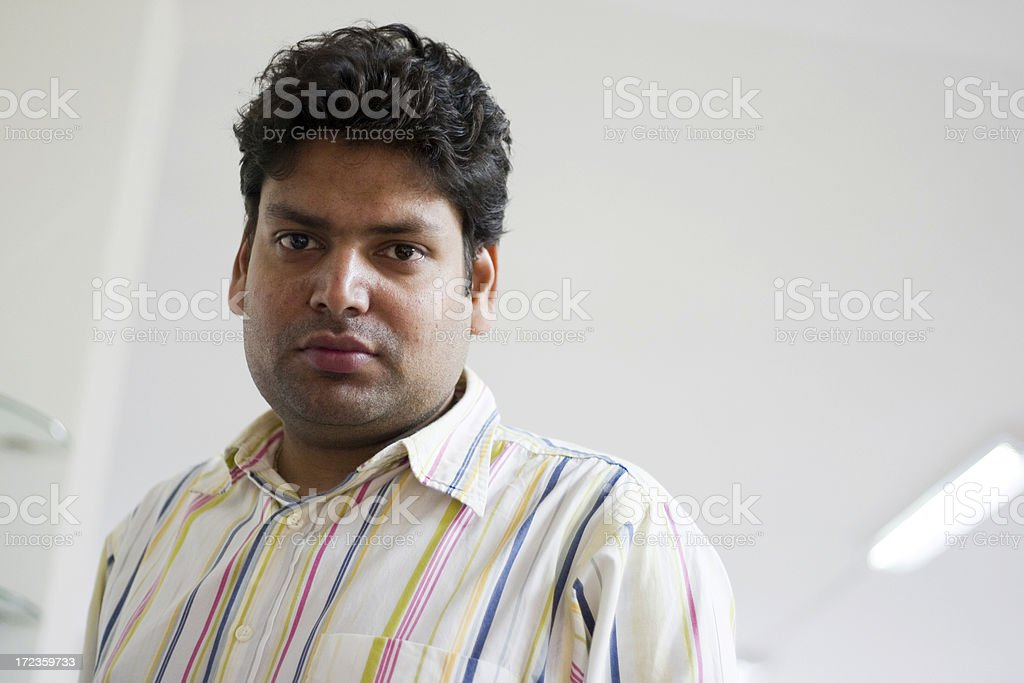 One Indian Asian People Young Office Worker horizontal stock photo