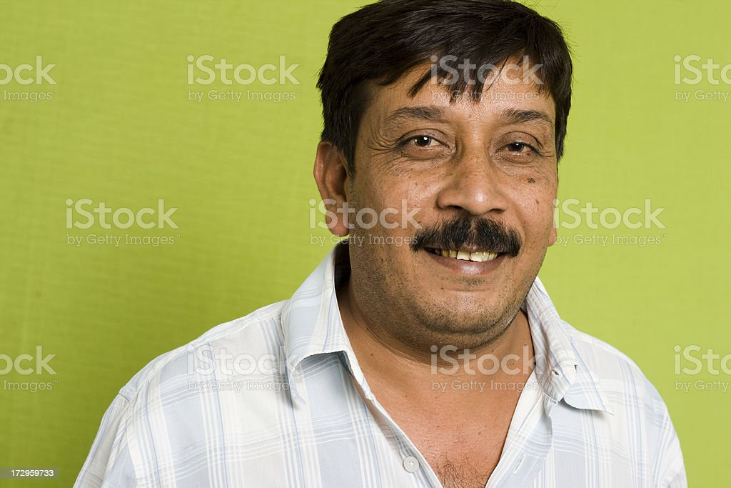 One Indian Mid Adult man royalty-free stock photo