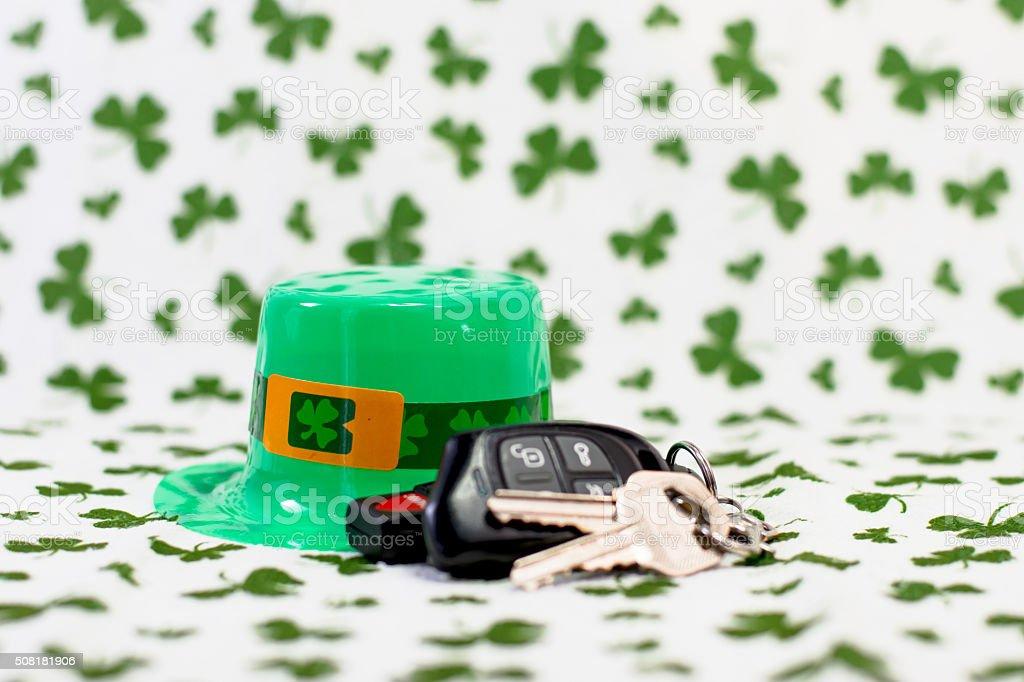 one irish hat and keys stock photo