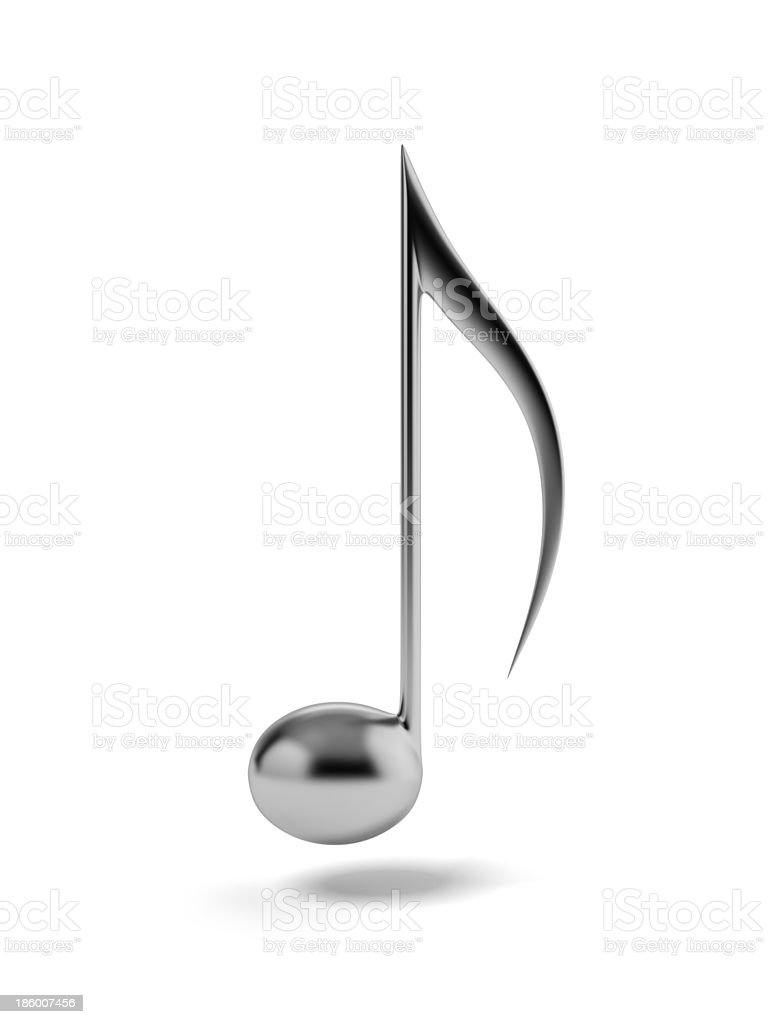One iron music note stock photo