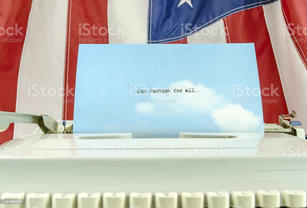 One Justice for All royalty-free stock photo