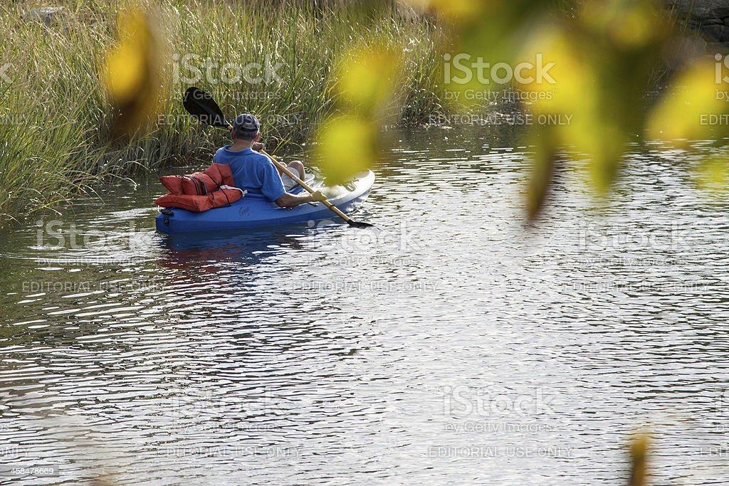 one kayaking royalty-free stock photo