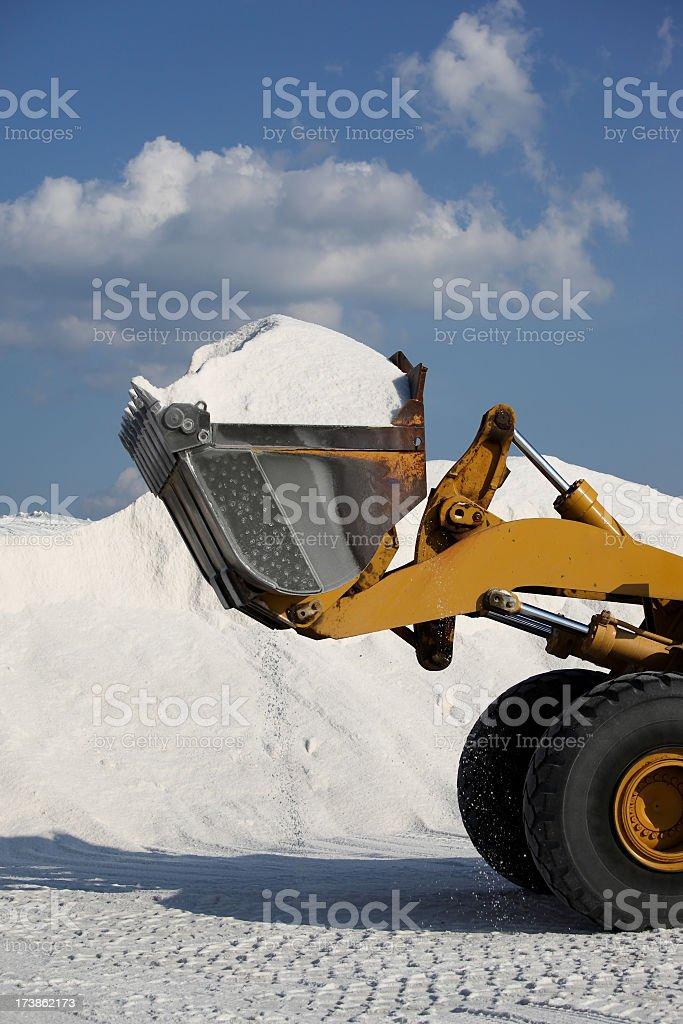 One ladle salt stock photo