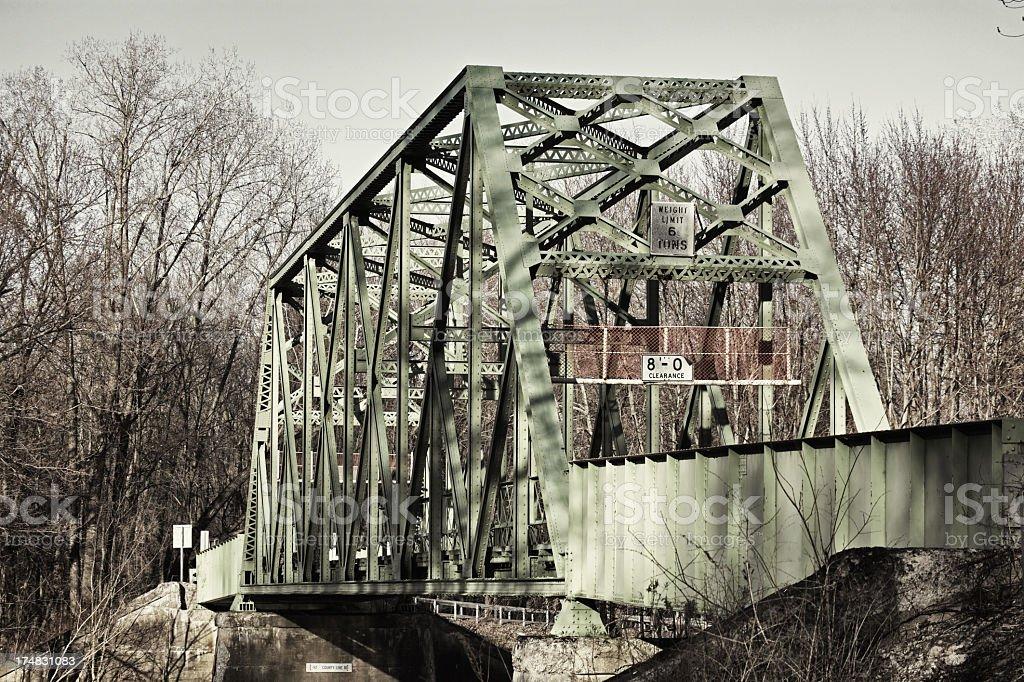 One Lane Steel Girder Bridge stock photo