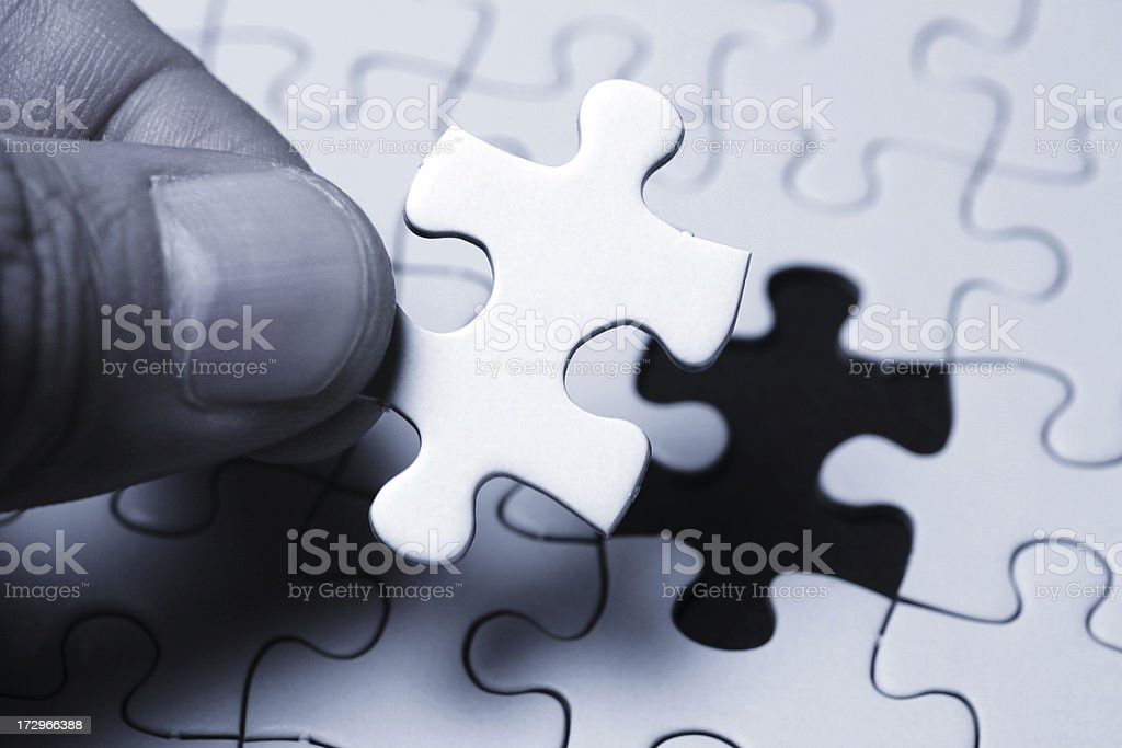One Last Piece royalty-free stock photo