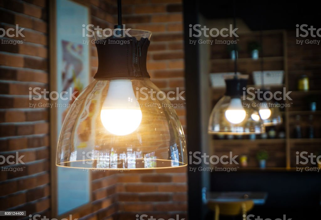 One Light bulb and light. stock photo