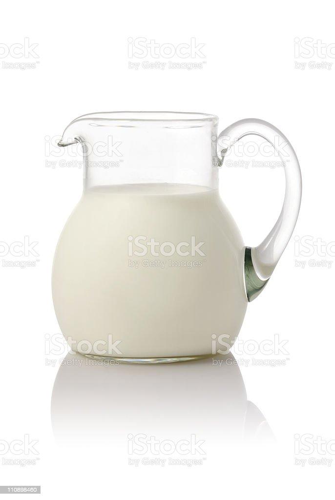 One liter of fresh milk stock photo