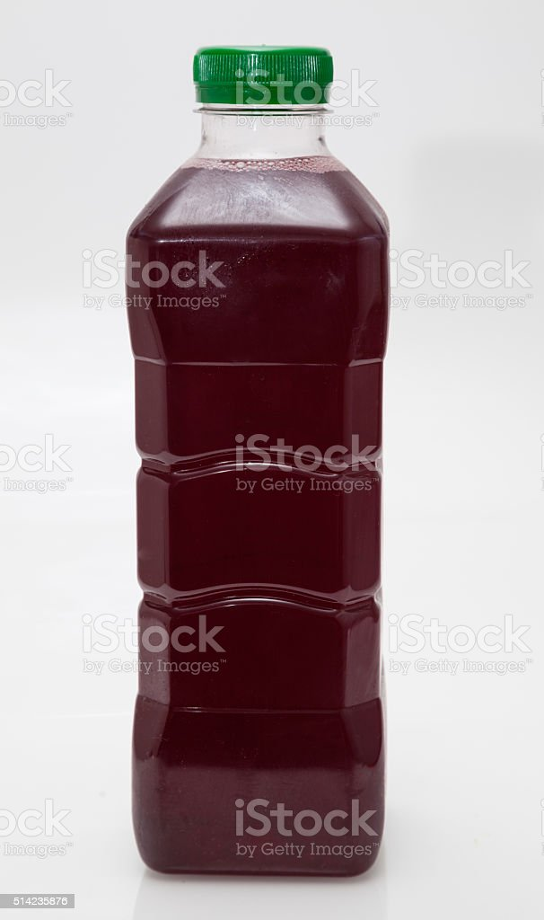 one litre transparent plastic carton fresh apple pomegranate blueberry juice stock photo