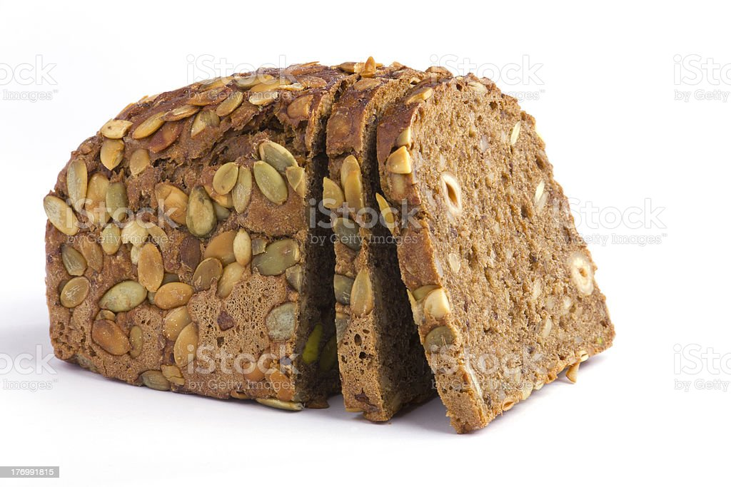 One loaf of rye bread stock photo