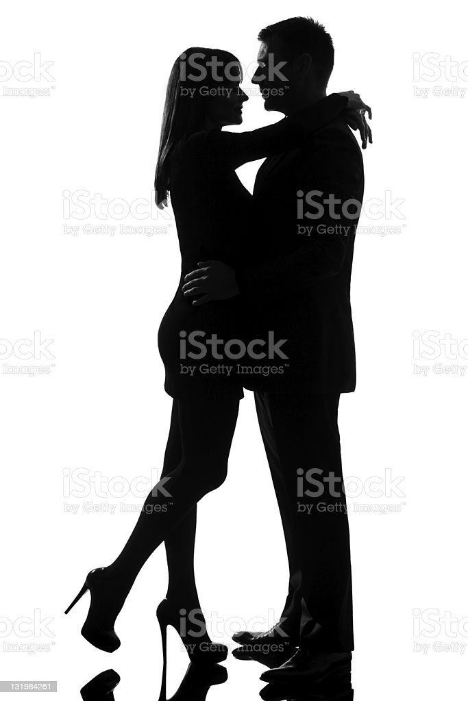 one lovers couple man and woman hugging tenderness royalty-free stock photo