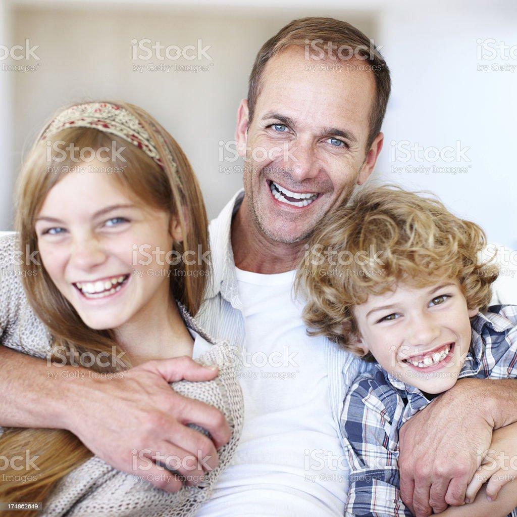 One loving family royalty-free stock photo
