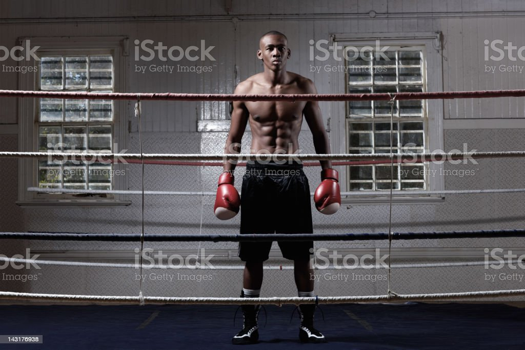 One man against the world royalty-free stock photo