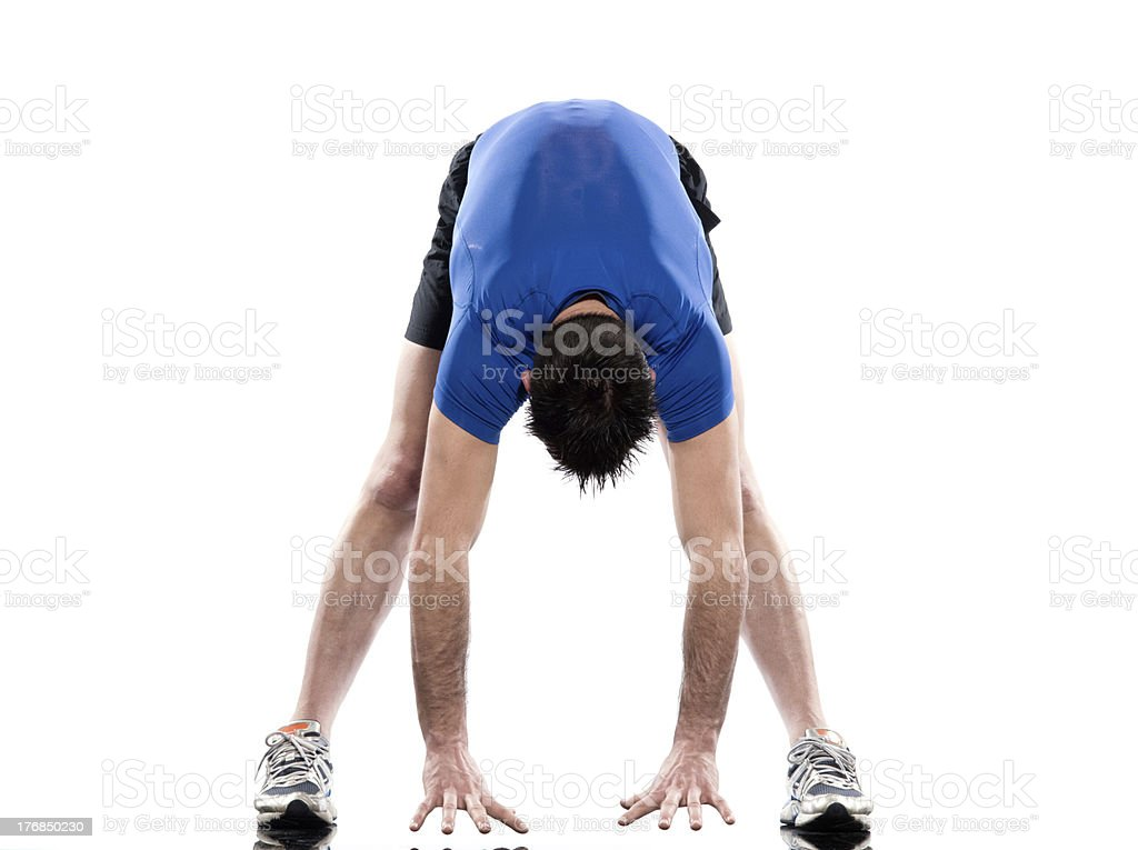 one man exercising workout fitness Exercises stock photo