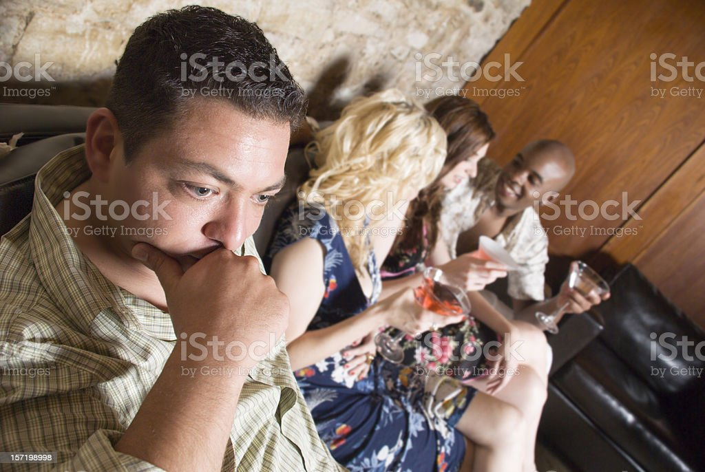 One man Isolated from a Group stock photo