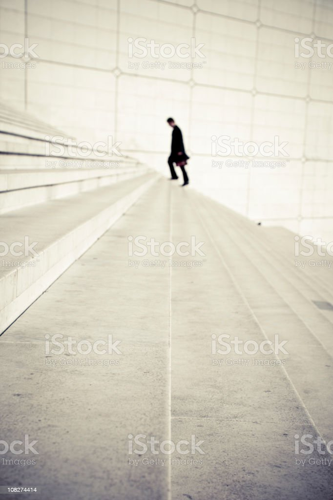 One man on staircase royalty-free stock photo