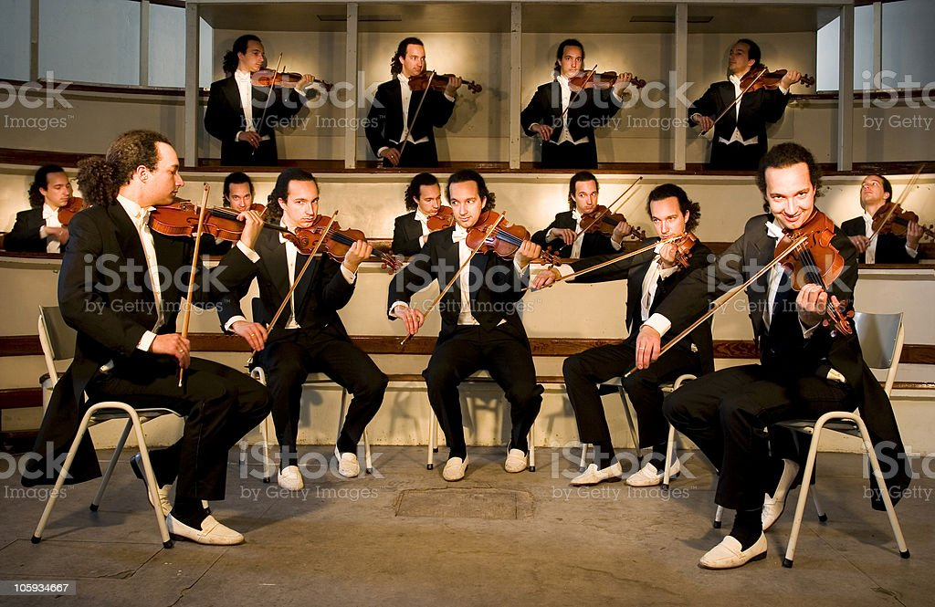 One Man Orchestra stock photo