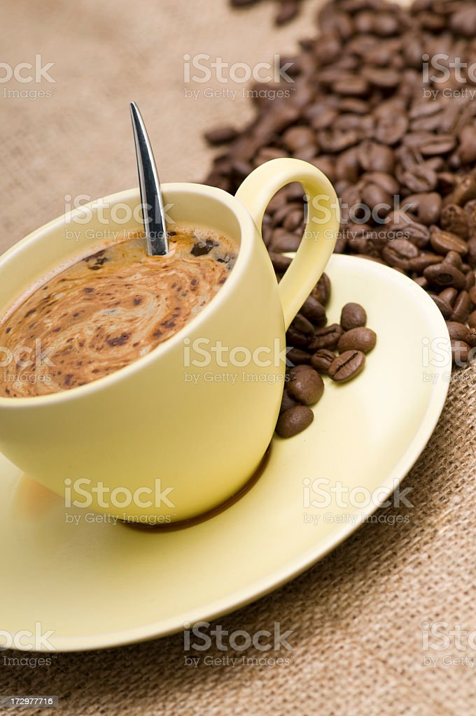 one more coffee please stock photo