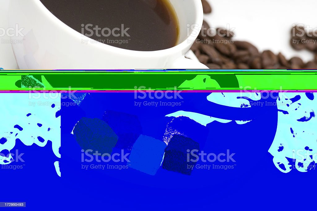 one more cup of coffee please stock photo