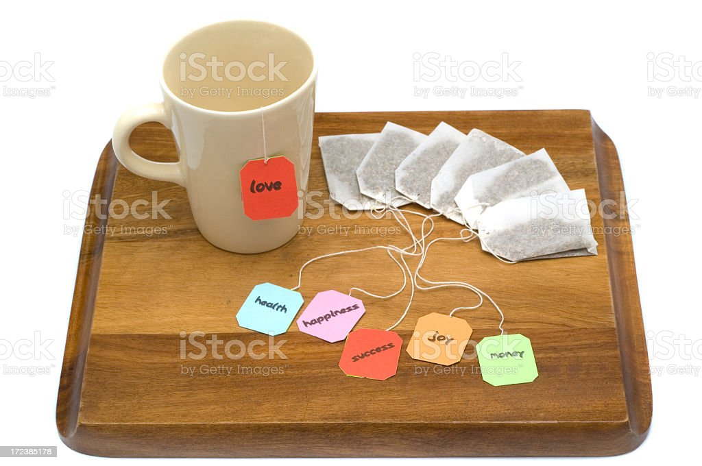 one more cup of tea stock photo