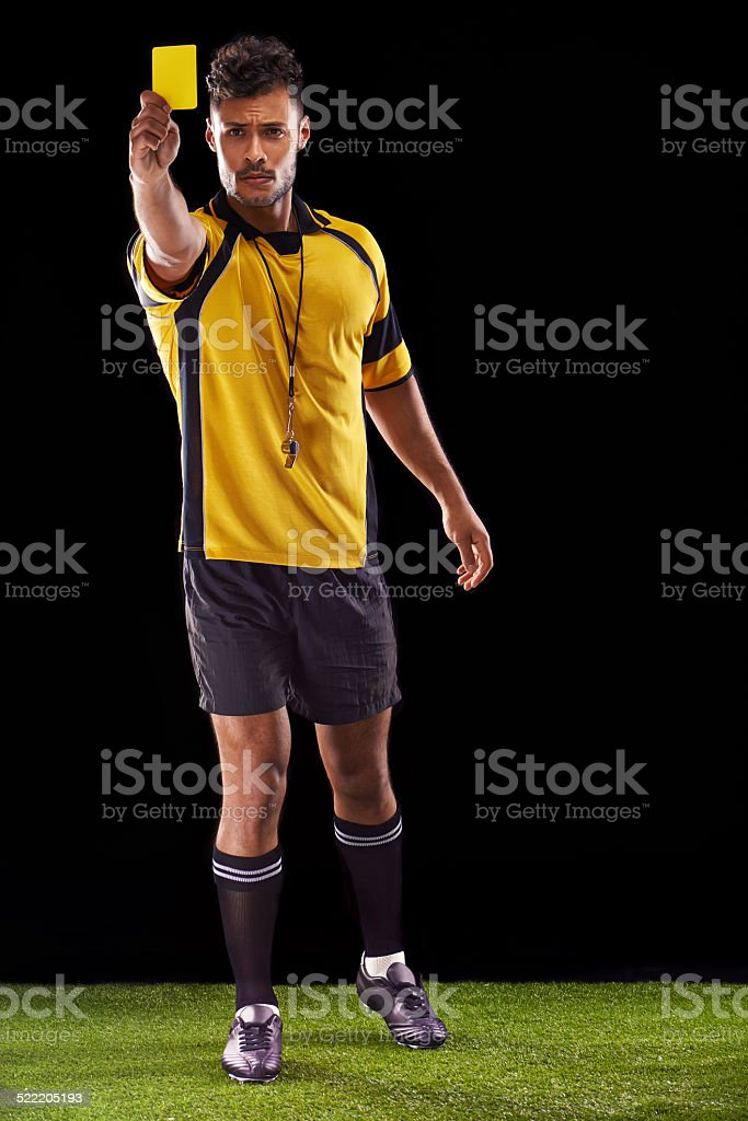 One more foul and you're off! stock photo