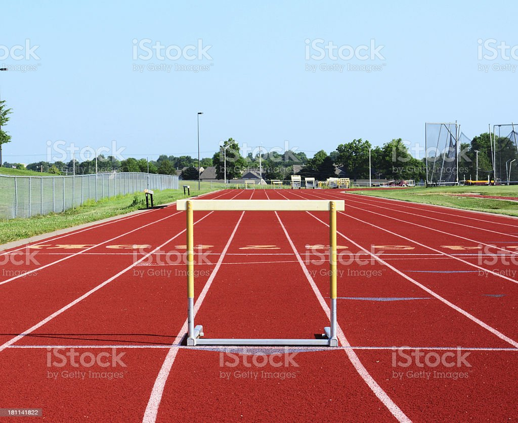 One More Hurdle To Clear royalty-free stock photo