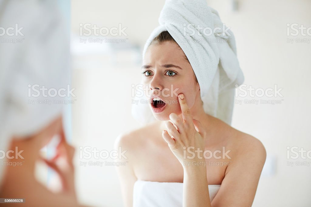 One more pimple stock photo