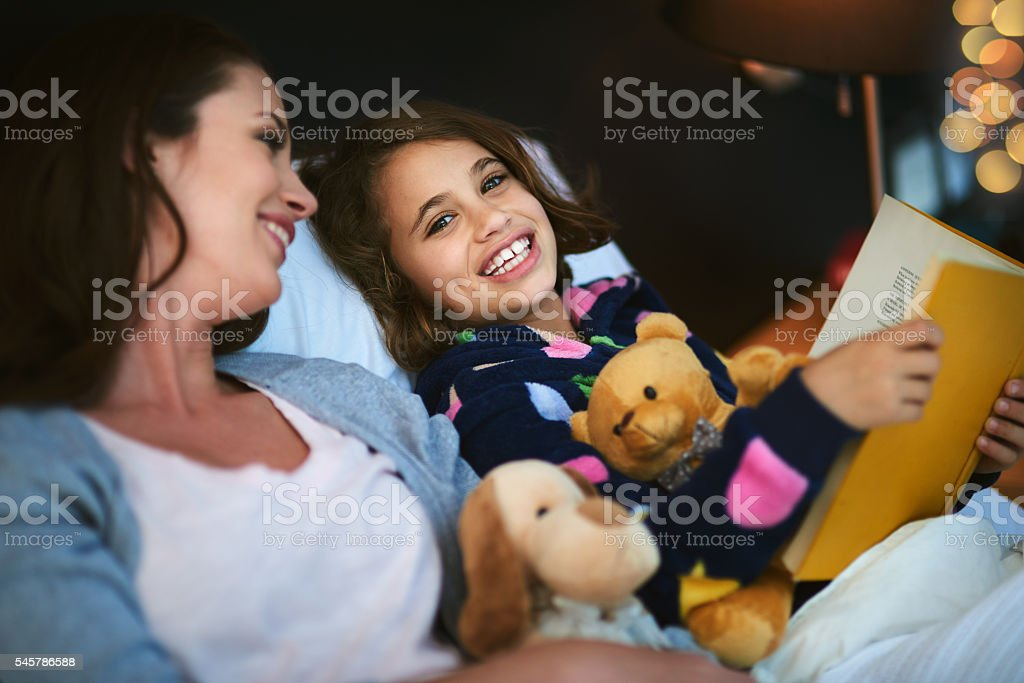 One more story before bedtime stock photo
