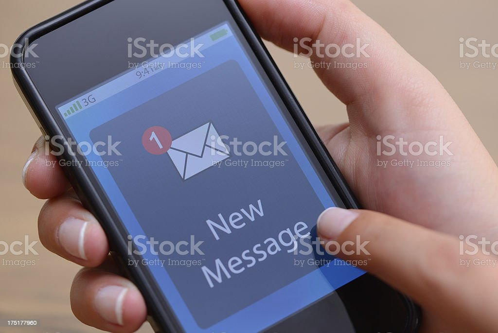 One new message royalty-free stock photo