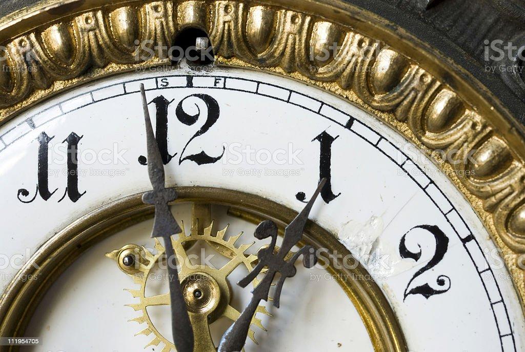 One O'clock horizontal royalty-free stock photo