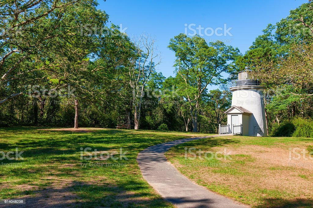 One of Cape Cod Three Sister's Lighhouses stock photo
