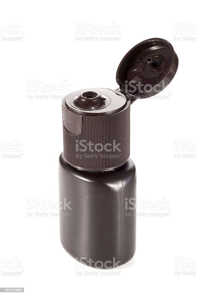 One of cosmetic bottles royalty-free stock photo