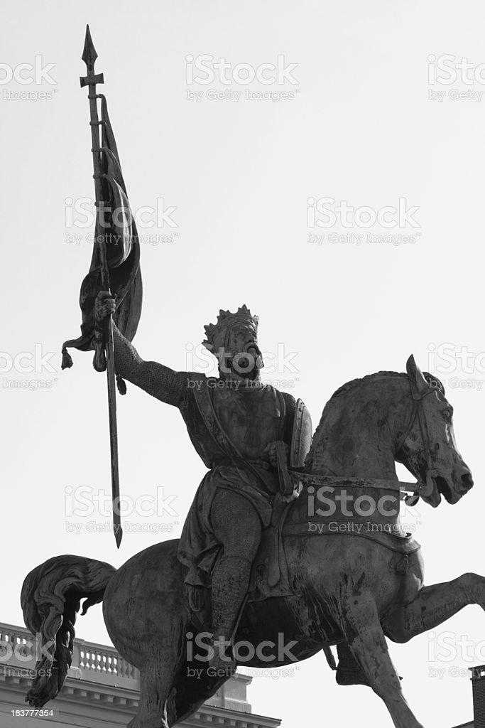 One of first Crusade leaders Godfrey de Bouillon stock photo