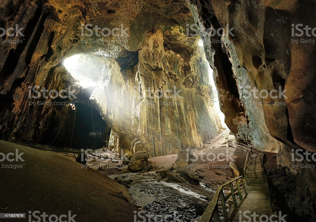 One of most beautiful caves Borneo Gomantong. Malaysia royalty-free stock photo