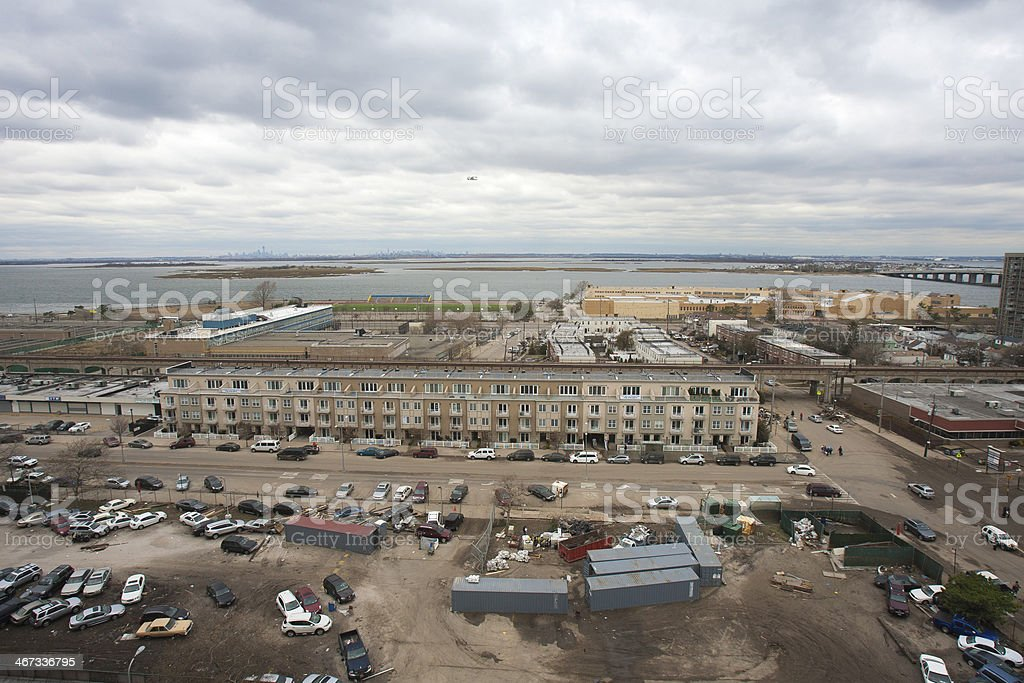 One of New York borough area after Hurricane Sandy royalty-free stock photo